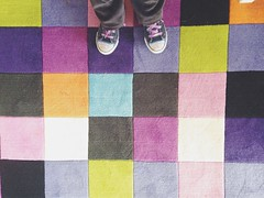 Warrnambool (Hueystar) Tags: summer smart mobile standing carpet phone looking squares 5 down colourful iphone 2014