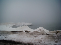 Ice Floes (Viv Lynch) Tags: winter lake snow toronto ontario canada storm cold ice water fog sand greatlakes icestorm beaches snowing lakeontario deserted thebeach freshwater 2014 2013