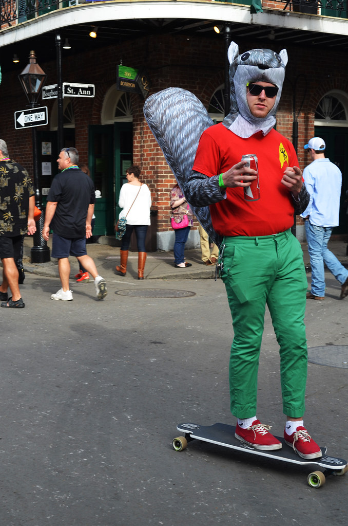 NO_Bourbon_01 (chiang_benjamin) Tags la costume squirrel louisiana neworleans frenchquarter skateboard bourbonstreet mardigras & The Worldu0027s Best Photos of costume and skateboard - Flickr Hive Mind