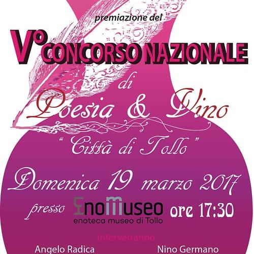 """Premiazione del V Concorso di """"Poesia & Vino - Città di Tollo."""
