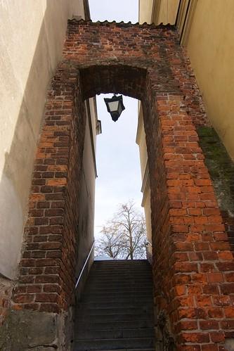 Furta Dominikańska w Sandomierzu od strony klasztoru
