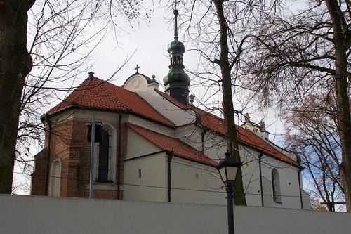 Kościół Nawrócenia św. Pawła w Sandomierzu od północnego wschodu