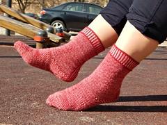 Stripodots2 (Horosho.Gromko.) Tags: socks feet knitting knittedsocks knitty knittymag legs stripodot