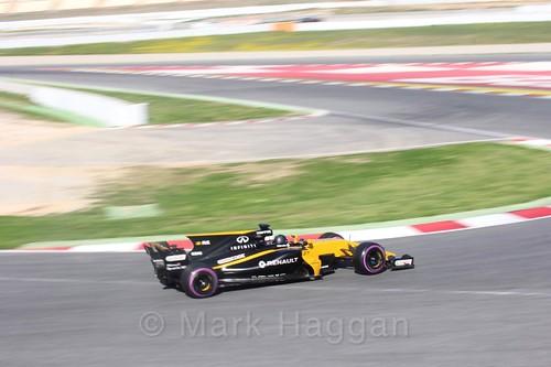 Nico Hülkenberg in his Renault in Formula One Winter Testing 2017