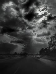 Welcome To Black Weather Transportation Road Sky Cloud - Sky The Way Forward Nature Car No People Tree Outdoors Day Landscape Storm Cloud Cold Temperature Beauty In Nature (Craig Ansibin) Tags: welcometoblack weather transportation road sky cloudsky thewayforward nature car nopeople tree outdoors day landscape stormcloud coldtemperature beautyinnature