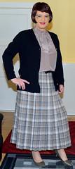 Birgit023906 (Birgit Bach) Tags: pleatedskirt faltenrock bowblouse schleifenbluse cardigan strickjacke