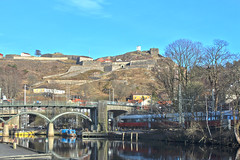Fredriksten festning (Skau) Tags: fredriksten festning halden train river bridge fortress