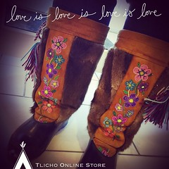 Happy Sunday everyone!  #Beautiful custom made #Mukluks made by the late Dora Marie Lafferty of Behchokǫ̀. She was a talented artisan and her memory is remembered through her creations. (Tlicho Online Store) Tags: beautiful mukluks
