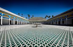 Bahia Palace Marrakech (Riccardo Maria Mantero) Tags: bahia palace mantero riccardo maria architecture buildings court marrakech morocco symmetry travel vanishing bahiapalace riccardomantero riccardomariamantero