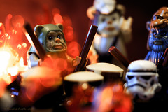 Let's celebrate! HMM (P & Y Photography) Tags: macromondays happy10years starwars ewok lego toys macro fiesta celebration fun fire music band dancing party canon 6d