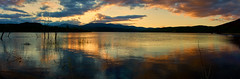 Cotter Dam Sunset (RobMacPhotography) Tags: landscapes cotter dam water reflection sunset clouds canberra tasmania australia panorama landscape ripples trees mountains silhouette sony a6000 rob mac photography serene peacefull autumn