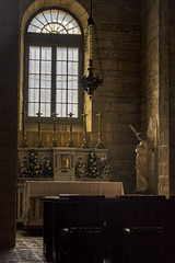 Catedral de La Serena (Tom Kilroy) Tags: church religion christianity catholicism indoors spirituality architecture people cathedral history candle table old cultures altar la serena chile nationalgeographiclinblad