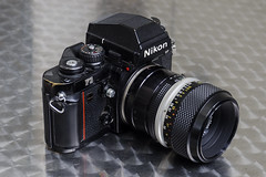 Nikon F3 with Micro-Nikkor 55mm (Arne Kuilman) Tags: micronikkorpauto micronikkor55mm 1971 lens micro macro olympus nikkor nikon f3 slr camera classic retro madeinjapan nikonhp m2 m2extensiontube
