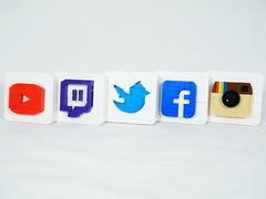 Social Media Logos (BrickinNick (DarthNick)) Tags: lego logo social media youtube twitch twitter facebook instagram tutorial guide building brickbuilding