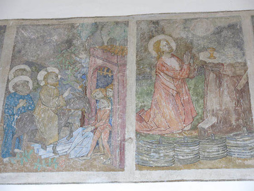 Entrée dans Jérusalem et Christ sur le Mont des oliviers