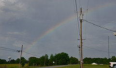 The Rainbow Lands in Athens! (BKHagar *Kim*) Tags: bkhagar rainbow sky powerlines athens al alabama