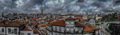 Pano on the Porto's roofs (Fred&rique) Tags: lumixfz1000 hdr raw photoshop porto portugal toits ciel nuages