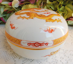 Meissen Porcelain Covered Box ~ Dragon Yellow Gold (Donna's Collectables) Tags: meissen porcelain covered box ~ dragon yellow gold