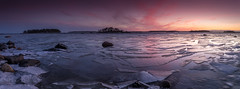 Winter panorama (Mika Laitinen) Tags: balticsea canon5dmarkiv europe finland helsinki kallahdenniemi scandinavia suomi vuosaari cloud colorful dusk landscape longexposure nature ocean outdoor rock sea seascape shore sky sunset winter uusimaa fi