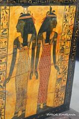 Isis and Nephthys (konde) Tags: newkingdom 19thdynasty sennedjem tt1 tomb coffin khonsu deities deirelmedina ancientegypt goddess isis nepthys nephtys hieroglyphs art