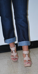 Cuffed Jeans and Feet (Jaylynn's Best Feeture) Tags: footfetish feet female foot toes toering highheels heelfetish ankles anklet arches jeans jeanshighheels