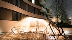 Umbrella of fire (Claymore55) Tags: lightpainters london meetup nikond750 steelwoolspinninglightpainting