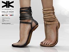 Halle High :: Woman Shoes :: 10 Colors ({kokoia}) Tags: halle mesh kokoia slink flat shoes shoe feet summer black pack maitreya belleza themeshproject tmp straps mid cords sandals high eve secondlfie 3d
