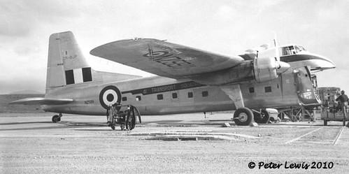 1955 RNZAF Bristol Freighter NZ5911 as ZK-BJP at Wellington on loan to SAFE wearing both registrations in 41 Transport Squadron livery.
