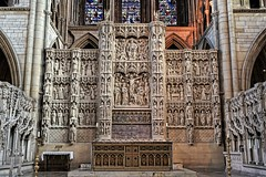 Reredos in Truro Cathedral (radleyfreak (offline for a while)) Tags: altarpiece screen truro cornwall figures reredos stone trurocathedral
