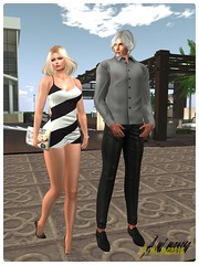 BlackRose Tank Dress and Costarlos Bruno Outfit_001 (Lules_Brimm) Tags: mesh secondlife fashion female male woman man skin dress outfits