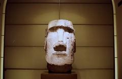 The head (Stephanie Overton) Tags: om10 olympus film 35mm 50mm kodak iso400 v600 epson lourve art museum history paris france travel tourist statue head carve