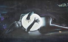 Moon Goddess Mural Oaxaca Mexico (Ilhuicamina) Tags: luna moon diosa goddess murals walls mexico oaxaca graffiti mujer woman art paintings