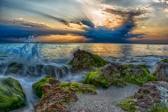 My Florida (DonMiller_ToGo) Tags: beachlife rock sunsetmadness sunsets nature water goldenhour florida hdr caspersenbeach 3xp hdrphotography beaches longexposure waves sky sunsetsniper seascapes d810 beachphotography outdoors