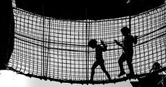 lets play2 (Ommation (Vasilis Benakis)) Tags: athens greece greek gazi kids cage girl boy play ropes blackandwhite black white canon6d playground ελλάδα αθήνα παιδιά ασπρόμαυρο γκάζι prison prisoners