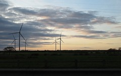 9185 Sleeping Turbines at dusk (Andy - Busyyyyyyyyy) Tags: 20170305 ccc clouds passengerobservation salmonsky silhouette sss sunset ttt windpower windturbines www