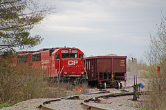A pair of ex-SOO SD60s hides out at the quarry just east of Waterloo (AndyWS formerly_WisconsinSkies) Tags: train railroad railway railfan canadianpacificrailway canadianpacific cprail cp emd sd60 emdsd60 locomotive