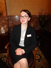 My Lovely Young Friend Katrina (Laurette Victoria) Tags: concierge hotel milwaukee suit pfisterhotel