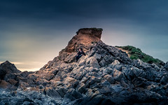 Contemplate (garethleethomas) Tags: rocks ponder contemplation landscape epic moody wales uk greatbritain pembrokeshire