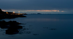Quiet evening (Anders_3) Tags: kvernevik stavanger rogaland norge norway evening night sea northsea blue bluehour longexposure nikon d700 sky horizon 7s49500v2