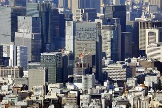 Chuo, Tokyo:  Density of development