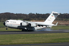 KAF342 McDonnell C17A EGPK 26-03-17 (MarkP51) Tags: kaf342 mcdonnell douglas c17a globemasteriii kaf kuwaitairforce transport military aircraft airplane plane image markp51 nikon d7200 d7100 aviationphotography