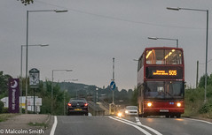 Last Bus To Harlow (M C Smith) Tags: route 505 pentax k3 road signs bus cars traffic pub hotel lamps posts trees green dusk lights sky pavement