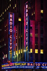 Radio City Music Hall (Geoff Sills) Tags: radio city music hall new york nyc neon sign night photography broadway hdr high dynamic range architecture nikon 85mm 14g geoffrey william sills geoff illumeon digital illumeondigital