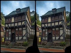 Stolberg im Harz 3-D / CrossEye / Stereoscopy / HDR / Raw (Stereotron) Tags: sachsenanhalt saxonyanhalt ostfalen harz mountains gebirge ostfalia hardt hart hercynia harzgau stolberg architecture fachwerk halftimbered house stud work antiquated ancient medieval middleages deutschefachwerkstrase crosseye crosseyed crossview xview cross eye pair freeview sidebyside sbs kreuzblick 3d 3dphoto 3dstereo 3rddimension spatial stereo stereo3d stereophoto stereophotography stereoscopic stereoscopy stereotron threedimensional stereoview stereophotomaker stereophotograph 3dpicture 3dglasses 3dimage hyperstereo canon eos 550d chacha singlelens kitlens 1855mm tonemapping hdr hdri raw availablelight quietearth