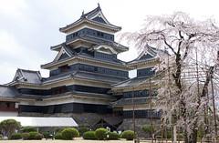 松本城の桜 Matsumoto Castle (ELCAN KE-7A) Tags: 日本 japan 長野 nagano 松本 matsumoto 城 castle 松本城 桜 cherry blossom ペンタックス pentax k3ⅱ 2017