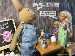 Easter 2017 (alegras dolls) Tags: osterhase ostern easterbunny barbie fashiondoll 16scale paintedeggs diorama easter