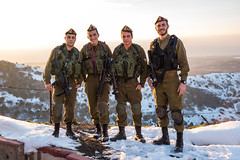 Field Intelligence Corps Soldiers Guarding the Northern Border (Israel Defense Forces) Tags: sunset snow winter wonderland soldiers guard border syria israel idf israeldefenseforces together landscape 595th battalion fieldintelligencecorps fieldintelligence field officer