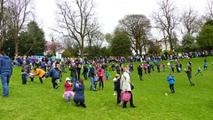 Chaos with Chocolate (Jazzbeat.) Tags: easter egg rolling annual preston avenhampark pagan tradition chocolate hardboiled