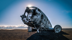 Plane wreck - Solheimasandur, Iceland - Travel photography (Giuseppe Milo (www.pixael.com)) Tags: us sun wreckage airplane wreck travel iceland plane solheimasandur dc crash southernregion is onsale