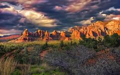 Overlook From Caballo Lane (D'ArcyG) Tags: sedona monuments redrockssunset mountains formations desert spring sunset arizona southwest landscape
